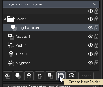 Creating a folder for layers in the Room Editor in GameMaker Studio