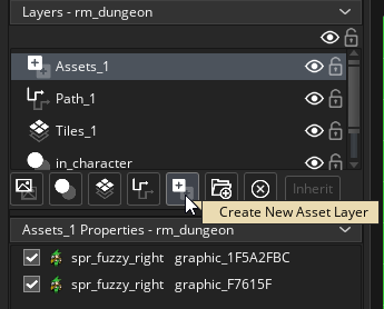 Creating an Asset layer in the Room Editor in GameMaker Studio