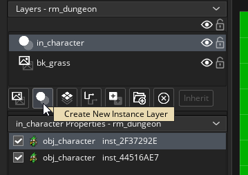 Creating an instance layer in the Room Editor in GameMaker Studio