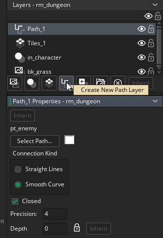 Creating a Path layer in the Room Editor in GameMaker Studio