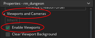 Enable Viewports for a Room in GameMaker Studio